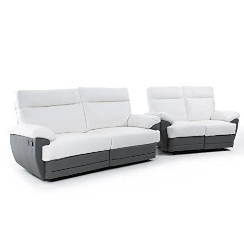 sky ensemble de 2 canap s de relaxation 1 canap 2. Black Bedroom Furniture Sets. Home Design Ideas