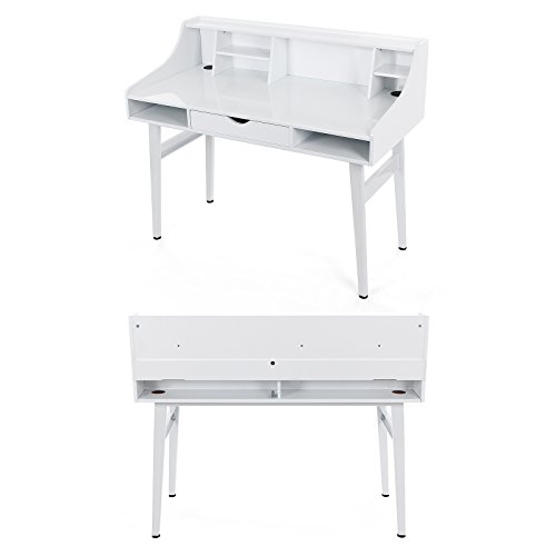 Songmics bureau informatique coiffeuse table de maquillage - Bureau informatique 120 cm ...