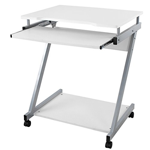 Songmics bureau informatique table informatique meuble for Meuble bureau qualite
