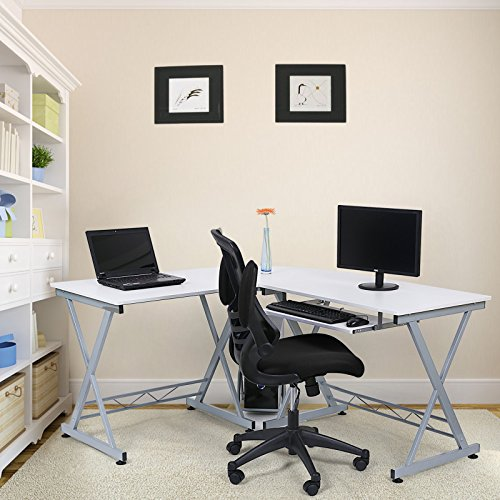 Songmics bureau informatique table informatique travail for Meuble bureau informatique but