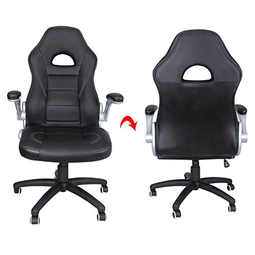 songmics chaise fauteuil si ge de bureau racing sport pu hauteur accoudoir r glable. Black Bedroom Furniture Sets. Home Design Ideas