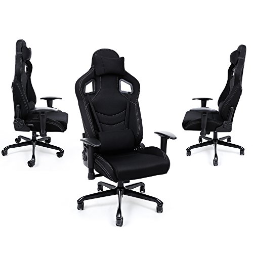 songmics chaise fauteuil si ge de bureau racing sport avec. Black Bedroom Furniture Sets. Home Design Ideas