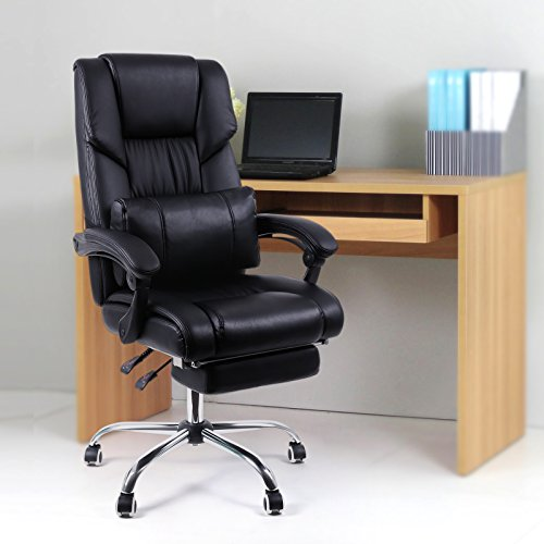 songmics fauteuil de bureau chaise pour ordinateur avec. Black Bedroom Furniture Sets. Home Design Ideas