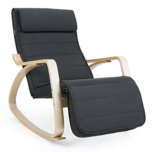 songmics rocking chair fauteuil bascule. Black Bedroom Furniture Sets. Home Design Ideas