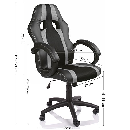 tresko chaise fauteuil si ge de bureau racing sport ray ergonomique inclinable accoudoirs. Black Bedroom Furniture Sets. Home Design Ideas