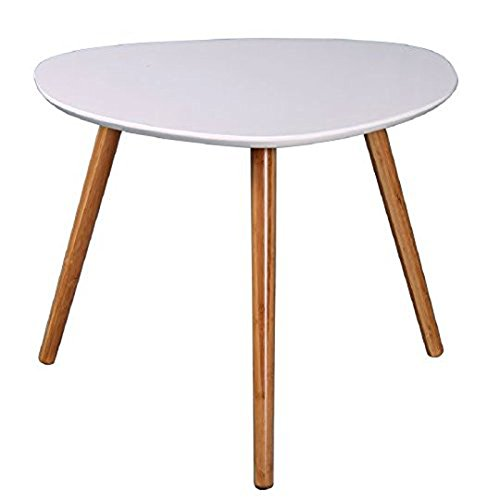 Table basse zoe blanc et bambou l40 x h40 x p40 5 cm for Table basse bambou