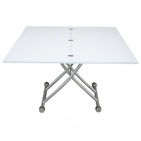 Table basse relevable plateau allonge d pliable clever - Table basse laque blanc brillant ...