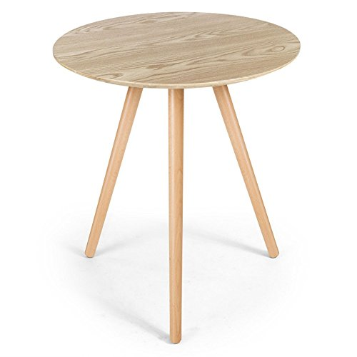 Table ronde d 39 appoint style nordique en bois clair joe for Table ronde d appoint