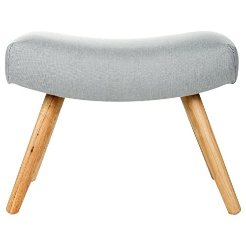 tabouret pouf original esprit scandinave coloris gris soie. Black Bedroom Furniture Sets. Home Design Ideas