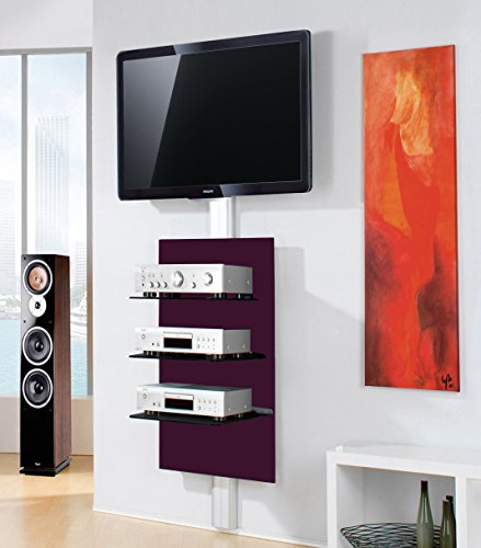 vcm vcm meuble mural xeno 3 panneau hifi tag re. Black Bedroom Furniture Sets. Home Design Ideas