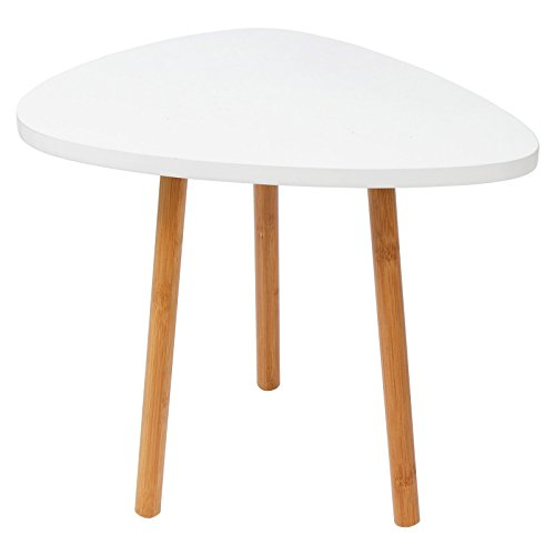 Woltu bt05ws table basse table de chevet en bambou et mdf taille environ 46 x - Table de chevet 30 cm ...