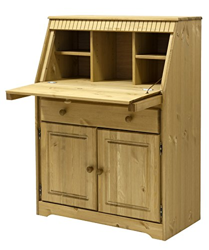 Clever moebel secr taire en pin massif huil - Bureau secretaire en pin massif ...
