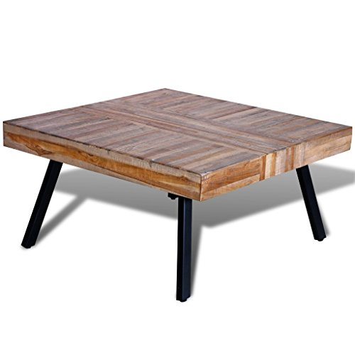 Vidaxl table basse carr e en teck recycl - Table en teck recycle ...