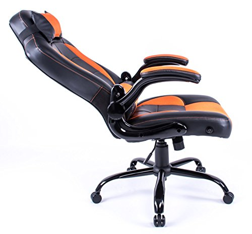 chaise de bureau chaise pivotante gaming racing fauteuil inclinable dossier haut rembourr pais. Black Bedroom Furniture Sets. Home Design Ideas