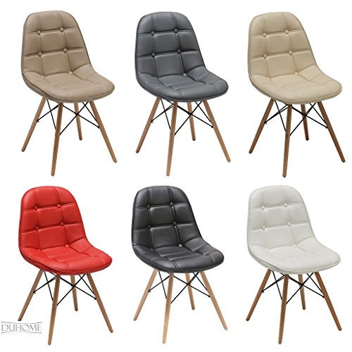 Chaise Salle A Manger Lot De 2 En Similicuir Selection Couleur Design Retro Scandinave
