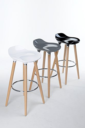 chaises de bar blanc tabourets de bar jasmine. Black Bedroom Furniture Sets. Home Design Ideas