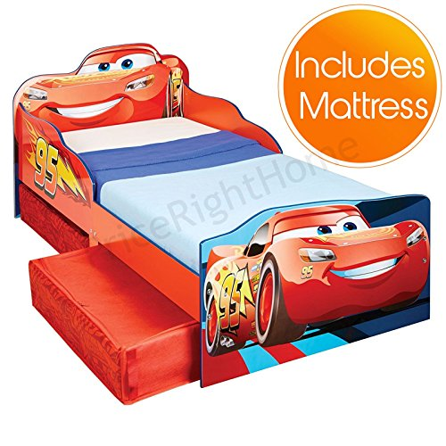 disney cars flash mcqueen lit pour enfant avec rangement. Black Bedroom Furniture Sets. Home Design Ideas