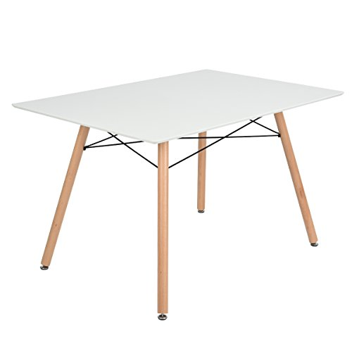 Furniturer fauteuil table de salle manger moderne design for Table a manger en bois moderne