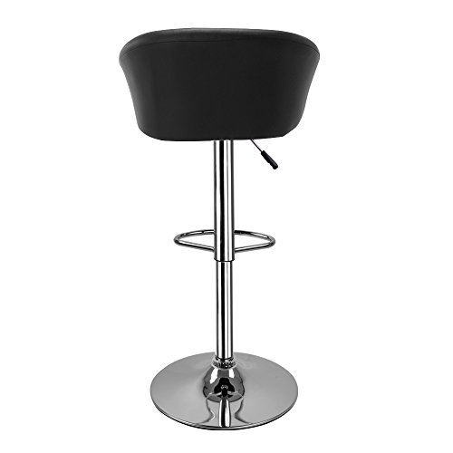 Hollylife lot de 2 tabourets de bar en simili cuir chaise de cuisine chrome pivotant tabourets for Chaise de bar en cuir