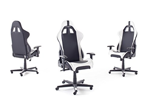 robas lund 62506sw5 dx racer chaise de gaming fauteuil de bureau pu noir blanc 52 x 53 x 126 cm. Black Bedroom Furniture Sets. Home Design Ideas