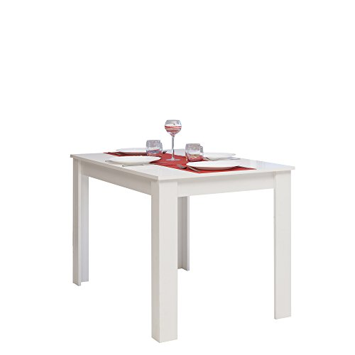 Symbiosis 2280a2121x00 table manger blanc 110 x 70 x 73 4 cm for Table cuisine 110 x 70