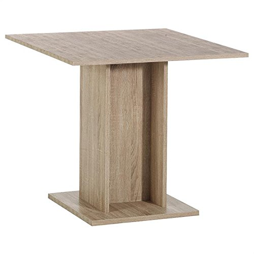 Table de salle manger ancona mdf d cor ch ne sonoma for Decoration table salle a manger