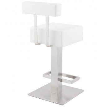 tabouret de bar design noble mini blanc. Black Bedroom Furniture Sets. Home Design Ideas