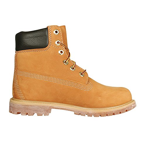 timberland 6 premium boot w chaussures montantes femme marron wheat nubuck. Black Bedroom Furniture Sets. Home Design Ideas
