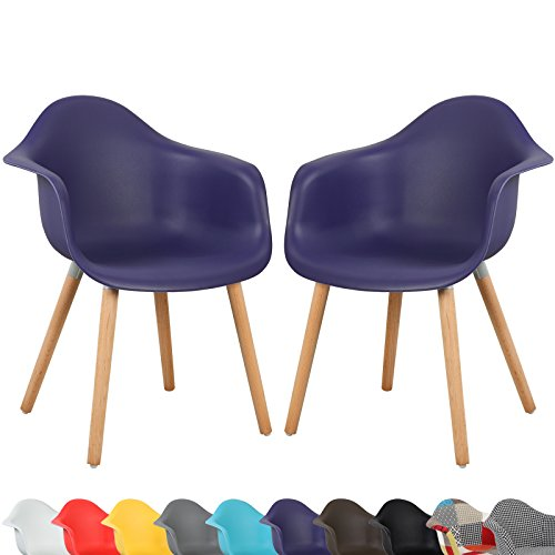 Woltu 499 a lot de 2 chaises en lin plastique de for Chaise de plastique