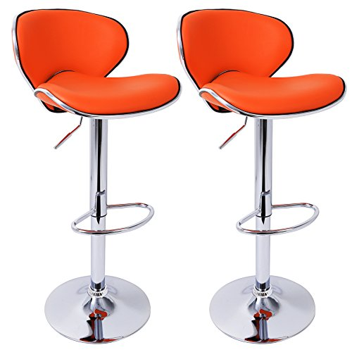 Woltu 503 1x tabouret de bar r glable en hauteur chaise de bar en similicui - Chaise de bar avec dossier ...