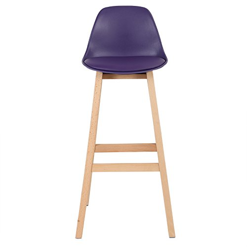 woltu 509 2 x tabouret de bar en plastique tabouret de cuisine avec dossier en bois 7 couleurs. Black Bedroom Furniture Sets. Home Design Ideas