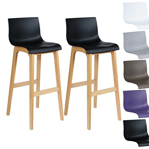 woltu 537 tabouret de bar lot de 2 en bois et plastique. Black Bedroom Furniture Sets. Home Design Ideas
