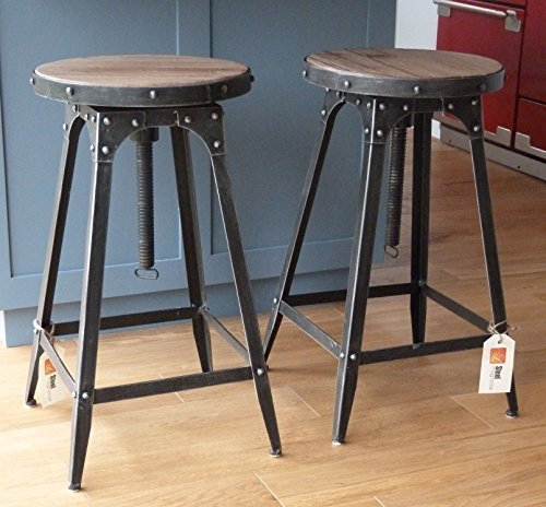 de style caf r glable tabouret urbain vintage industriel. Black Bedroom Furniture Sets. Home Design Ideas