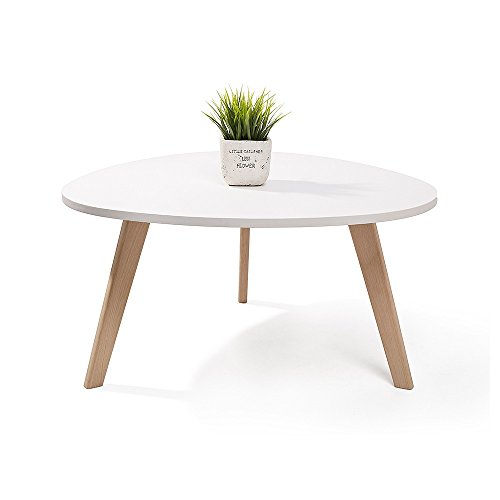 alta table basse scandinave aspect galet pieds en bois blanc. Black Bedroom Furniture Sets. Home Design Ideas