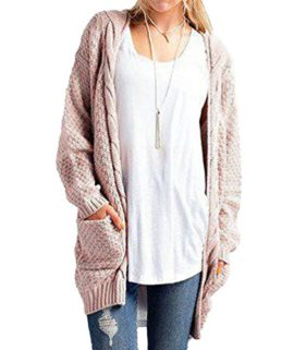 Jitong Cardigan Femme Long en Maille Manches. 17ced3bd865b