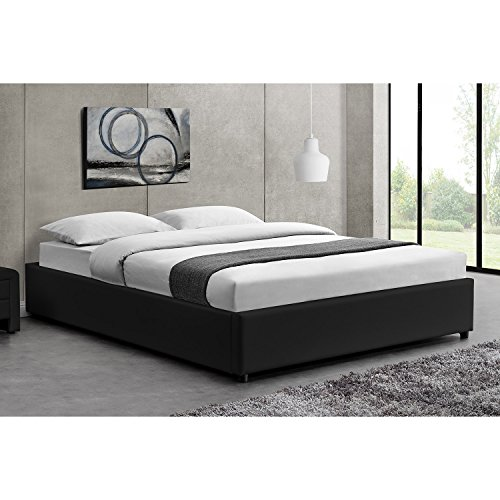 lit complet saga 140x190cm avec coffre matelas essentiel. Black Bedroom Furniture Sets. Home Design Ideas