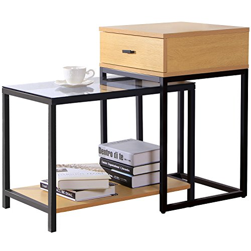 lifewit ensemble de table d 39 appoint moderne 2 pi ces