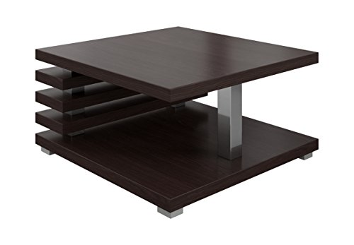 table basse oslo marron fonc weng 60 x 60 cm. Black Bedroom Furniture Sets. Home Design Ideas