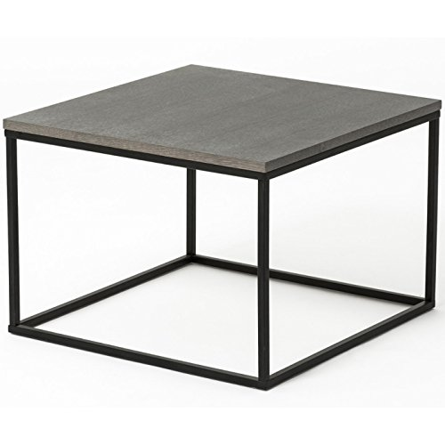 Table basse design elesia noir et gris - Table basse noire design ...