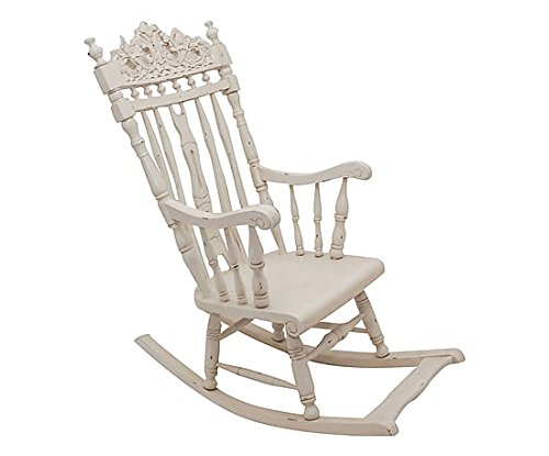 Chaise bascule blanche for Chaise 0 bascule