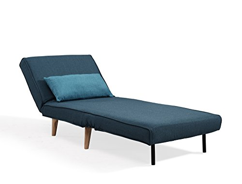 fauteuil scandinave convertible en tissu bleu. Black Bedroom Furniture Sets. Home Design Ideas