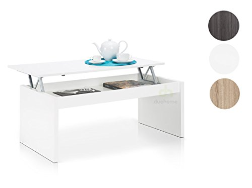 Habitdesign table basse relevable chevet meuble salon for Hauteur meuble salle a manger