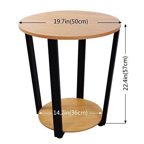 lifewit lifewit table basse ronde gu ridon bout de canap table de nuit table el gante. Black Bedroom Furniture Sets. Home Design Ideas