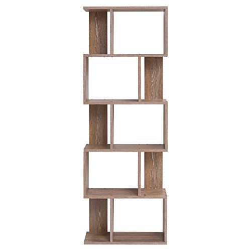 mobili rebecca bibliotheque meuble de rangement 5etag res bois brun design moderne chambre. Black Bedroom Furniture Sets. Home Design Ideas