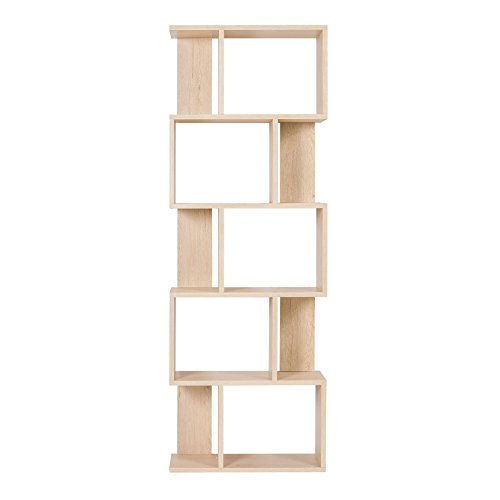 rebecca srl bibliotheque etageres bois beige design. Black Bedroom Furniture Sets. Home Design Ideas