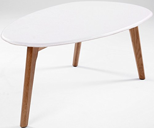 Table basse design scandinave visby blanc 90 cm x 50 cm for Table basse scandinave hauteur 50 cm