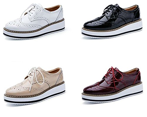 Derbies Femmeschaussures De Dadawen Lacets Baskets Ville À Brogues WIYeEH9D2