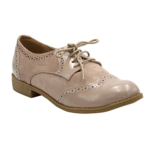 Derby Plate Femme Shoes En – Simili Cuir Richelieus Chaussure Vernis Style Fashion Derbies Tc3lF1JK
