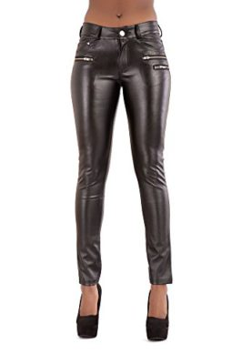 Femmes-Shaping-Effet-taille-normale-PU-Faux-cuir-Skinny-noir-Skinny-Fit-Extensible-Pantalons-Leggings-Pantalons-0