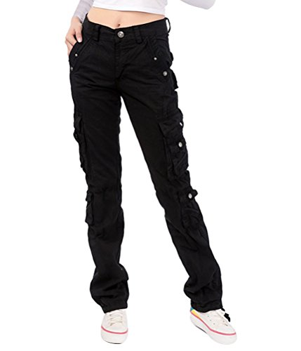 ghope cargo pantalon pour femme casual wear chino ln coton. Black Bedroom Furniture Sets. Home Design Ideas